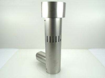 Metaloterm snorkel incl. muurdoorvoer sfeerverwarming USDSC