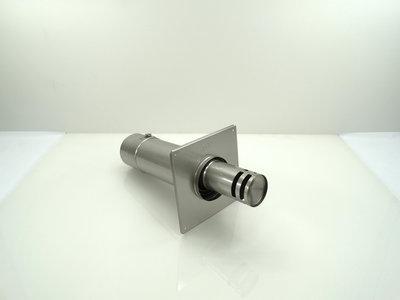 Metaloterm geveluitmonding excentrisch met grote muurplaat (incl. afdekband USAB) sfeerverwarming USDHC2