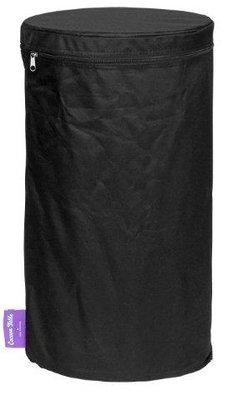 Happy Cocooning - PVC cover bijzettafel LPG tank rond zwart 31x31x58,5 cm