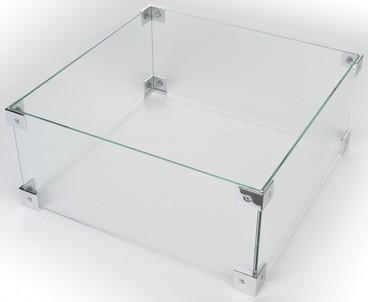 Happy Cocooning - glazen ombouw inbouwbrander vierkant 40x40x17 cm