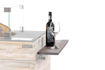 Happy Cocooning - houten side table Nice & Nasty met 2 poeder coated/poeder steunen 74x16,5x5,5 cm