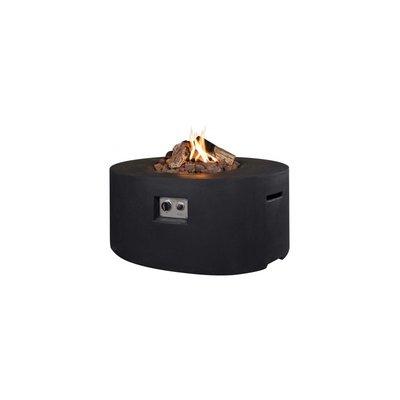Happy Cocooning - Cocoon table ovaal zwart 114x87x55 cm