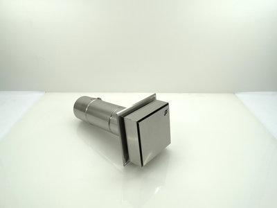 Metaloterm geveluitmonding vierkant (incl. afdekband USAB) sfeerverwarming USDHC3