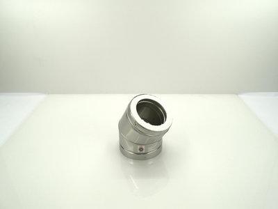 Metaloterm dubbelwandige bocht 30°  ATB 30 AT