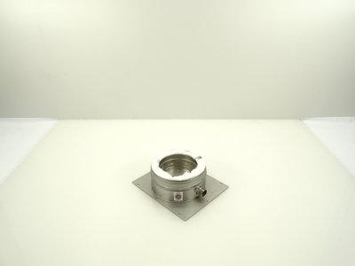 Metaloterm dubbelwandige voetplaat uni met condensafloop ATAPU AT